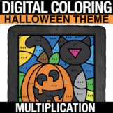 Halloween Digital Math Coloring Multiplication - Digital C