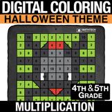 Halloween Digital Math Mystery Picture Multi-Digit Multipl