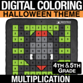 Halloween Digital Mystery Picture Multi-Digit Multiplicati