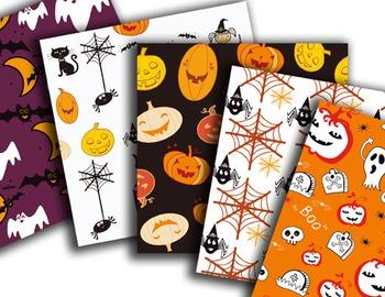 Halloween Digital Paper Happy Halloween Scrapbook Paper Pack