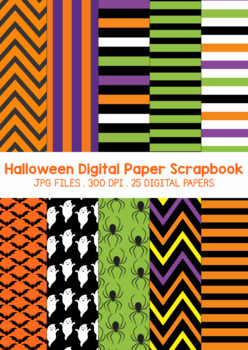 Halloween Digital Paper Scrapbook