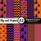 Halloween Digital Paper - Scrapbooking - Witches, pumpkins
