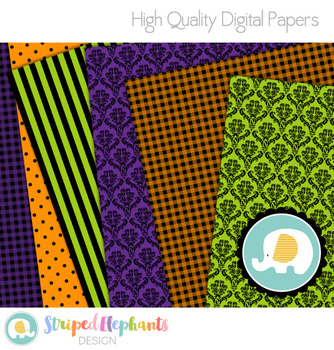 Halloween Digital Papers 2