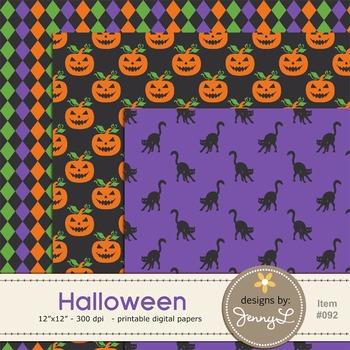 Halloween Digital Papers