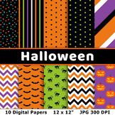 Halloween Digital Papers 3, Halloween Background, Hallowee
