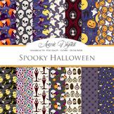 Halloween Digital Papers - Fun Halloween Seamless Pattern Background
