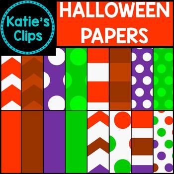 Halloween Digital Papers {Katie's Clips Clipart}