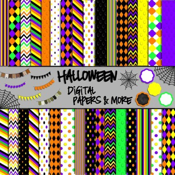 Halloween Digital Papers & More