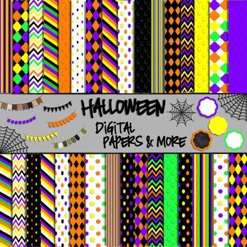 Halloween Digital Papers & More