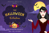 Halloween Digital Papers and Vector Clipart Graphics Spooky and Fun Bundle