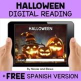 Halloween Reading Comprehension for Google Classroom - Dis