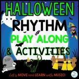 Halloween Digital Rhythm Activities:Drag & Drop Google Sli