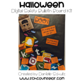 Halloween Digital Safety Bulletin Board Kit: Boo! Scary So