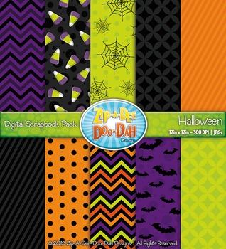 Halloween Digital Scrapbook Pack {Zip-A-Dee-Doo-Dah Designs}