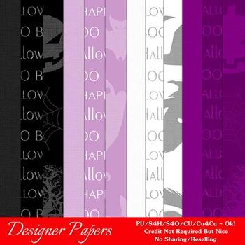 Halloween Digital Scrapbook Papers Pkg 11