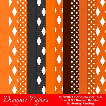 Halloween Digital Scrapbook Papers Pkg 5