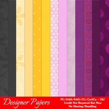 Halloween Digital Scrapbook Papers Pkg 6