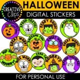 Halloween Digital Stickers: HALLOWEEN Stickers