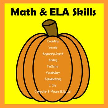 Halloween Worksheets K-1  - Digital Worksheets Google Drive