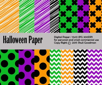 Halloween Digital paper set