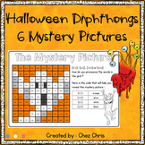6 Halloween Mystery Pictures - Vowel Diphthongs