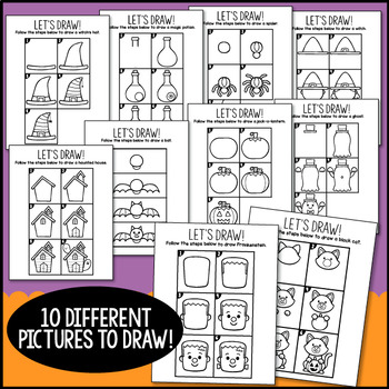 Halloween Directed Drawings.Directed Drawing Halloween By Littlered Teachers Pay Teachers