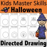 Halloween Directed Drawing Occupational Therapy for In-Per