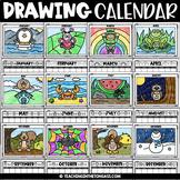 Halloween Directed Drawing Slides & MORE Editable Calendar