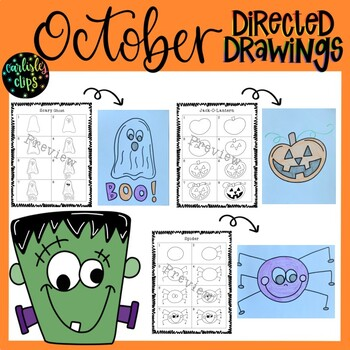 Halloween Directed Drawings.October Halloween Directed Drawings By Carlisle S Clips Tpt