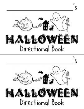 Halloween Directional Book