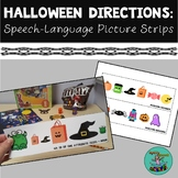 Halloween Directions: Speech-language picture strips