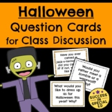 Halloween Discussion Cards Questions for Morning Meeting U