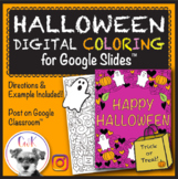 Halloween Distance Learning Digital Coloring Pages for Google Slides™