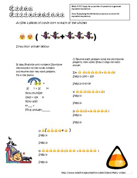 Halloween Distributive Property With Common Core Standards