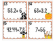Halloween Dividing Decimals Task Cards