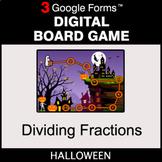 Halloween: Dividing Fractions - Digital Board Game   Google Forms