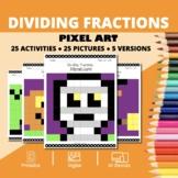 Halloween: Dividing Fractions Pixel Art