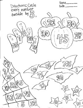 Halloween Divisible by 3 Worksheet