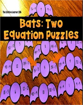 Halloween Division Fact Math Puzzles