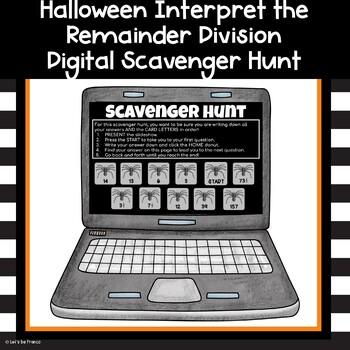 Halloween Division Interpreting the Remainder Scavenger Hunt