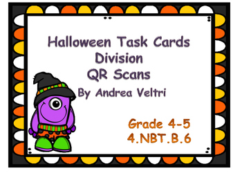 Halloween Division Task Cards  (no remainders)