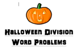 Halloween Division Word Problems