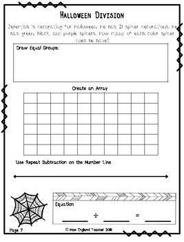 Halloween Division Word Problems within 50 (Easy)