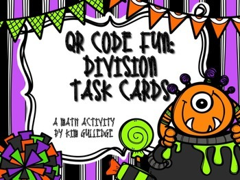 Halloween Division with QR Code Fun Common Core 5.NBT.6