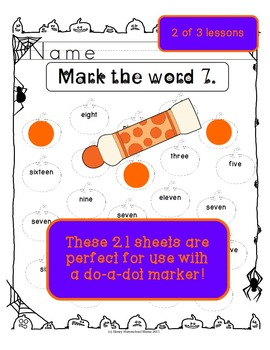 Halloween Do-A-Dot Combo Pack - Shapes, Alphabet Practice, and Number Words