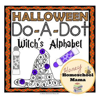 Halloween Do-A-Dot Witch's Alphabet Activity