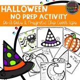 Halloween No Prep Activity: Do-A-Dots and Magnetic Chip Cover Ups