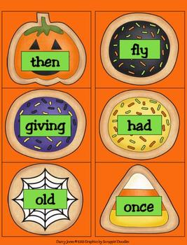Halloween Dolch First Grade Word Cards