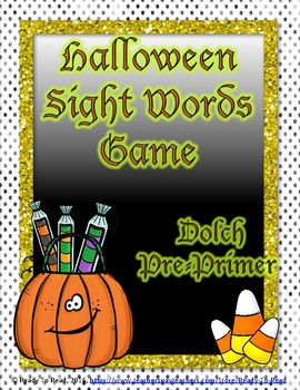 Halloween Dolch Pre-Primer Sight Word Game