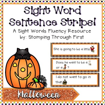 Sight Word Sentence Strips: Halloween Set